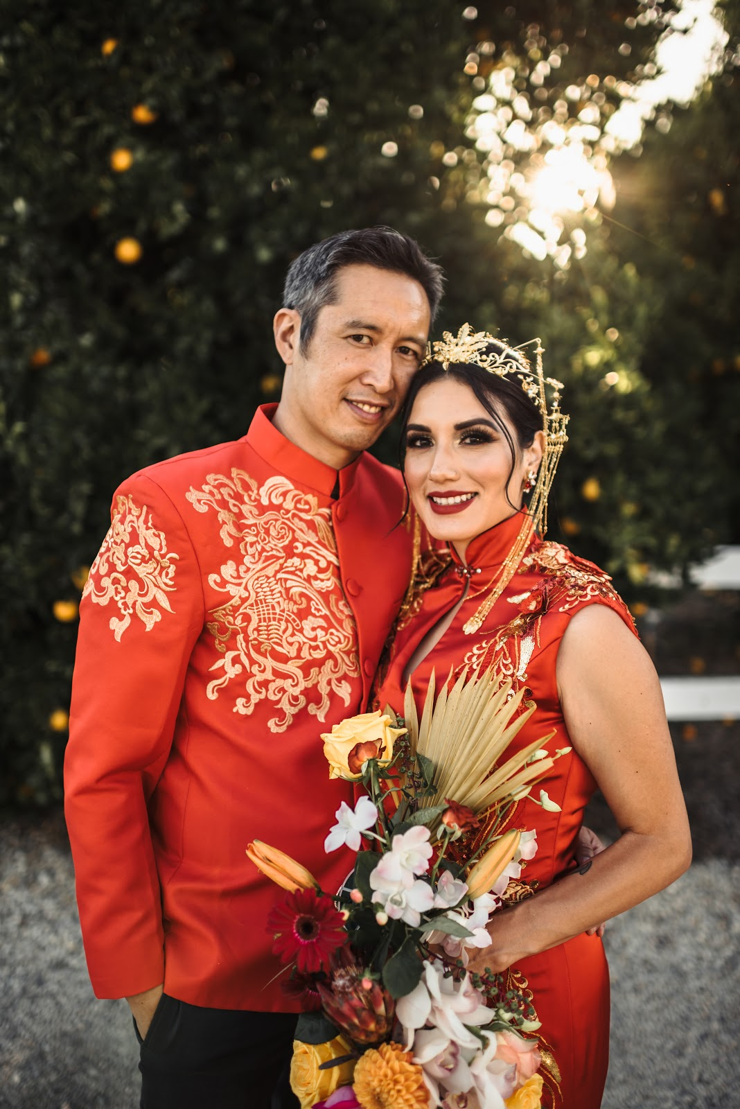 Multicultural Chinese and El Salvadoran Minimony Wedding