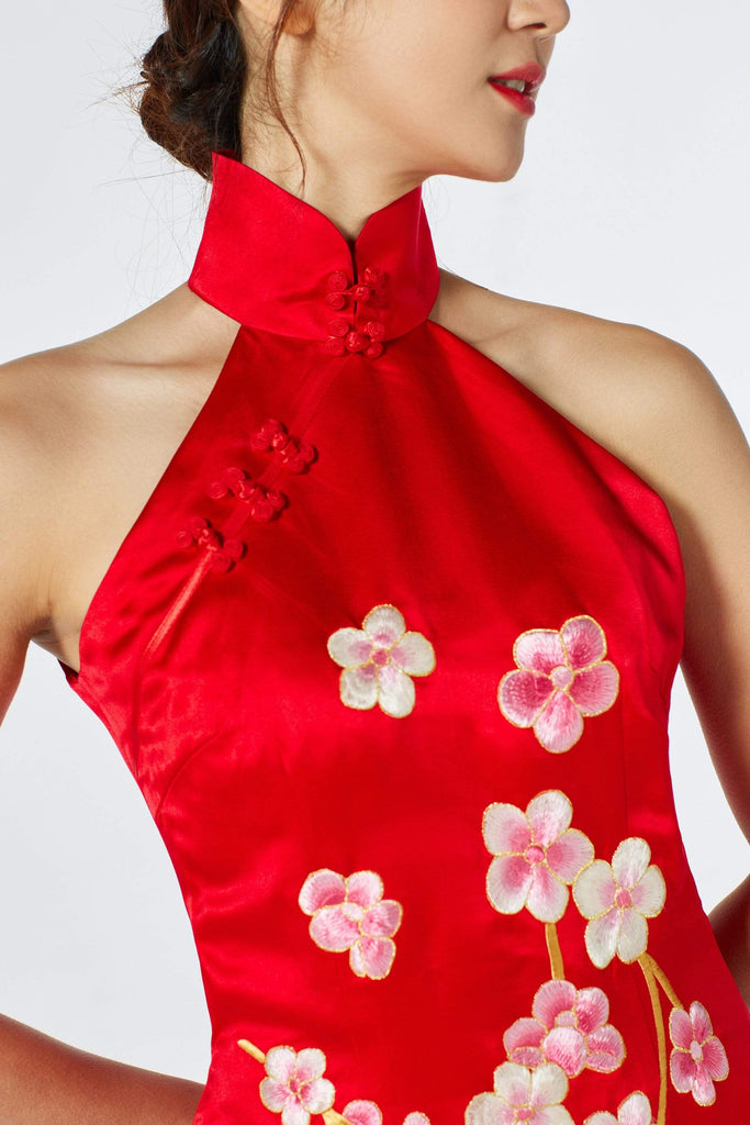 Qipao Dress Fabric Type Silk