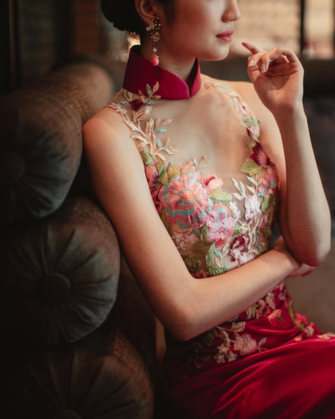 Modern Cheongsam Qipao Dress For Your Chinese Wedding Inspiration, Pink Chinese Wedding Dress