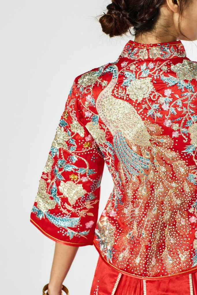 Victoria Qun Kwa with Peacock Embroidery