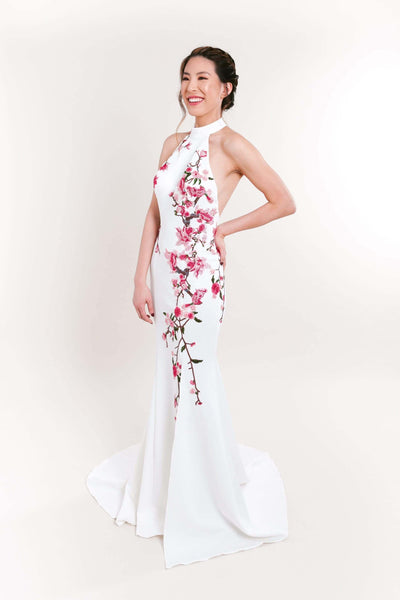 White Chinese Dress, White Cheongsam Wedding Dresses, East Meets Dress