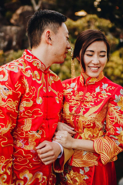 5 Must-Have Chinese Wedding Symbols For Your Wedding, Phoenix Dragon Qun Kwa Dresses, By East Meets Dress