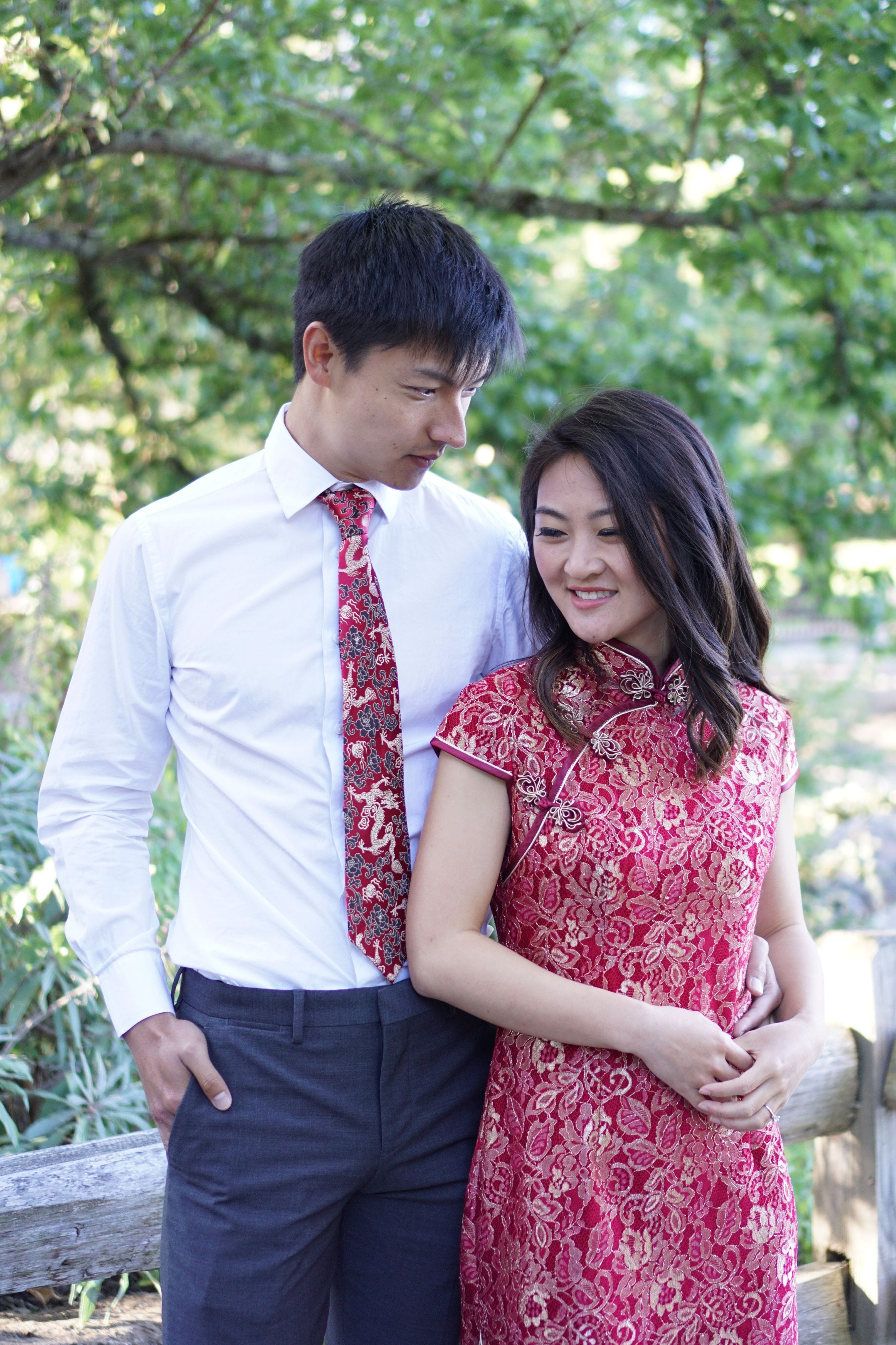 Melinda Dress | Wine Red Lace Qipao