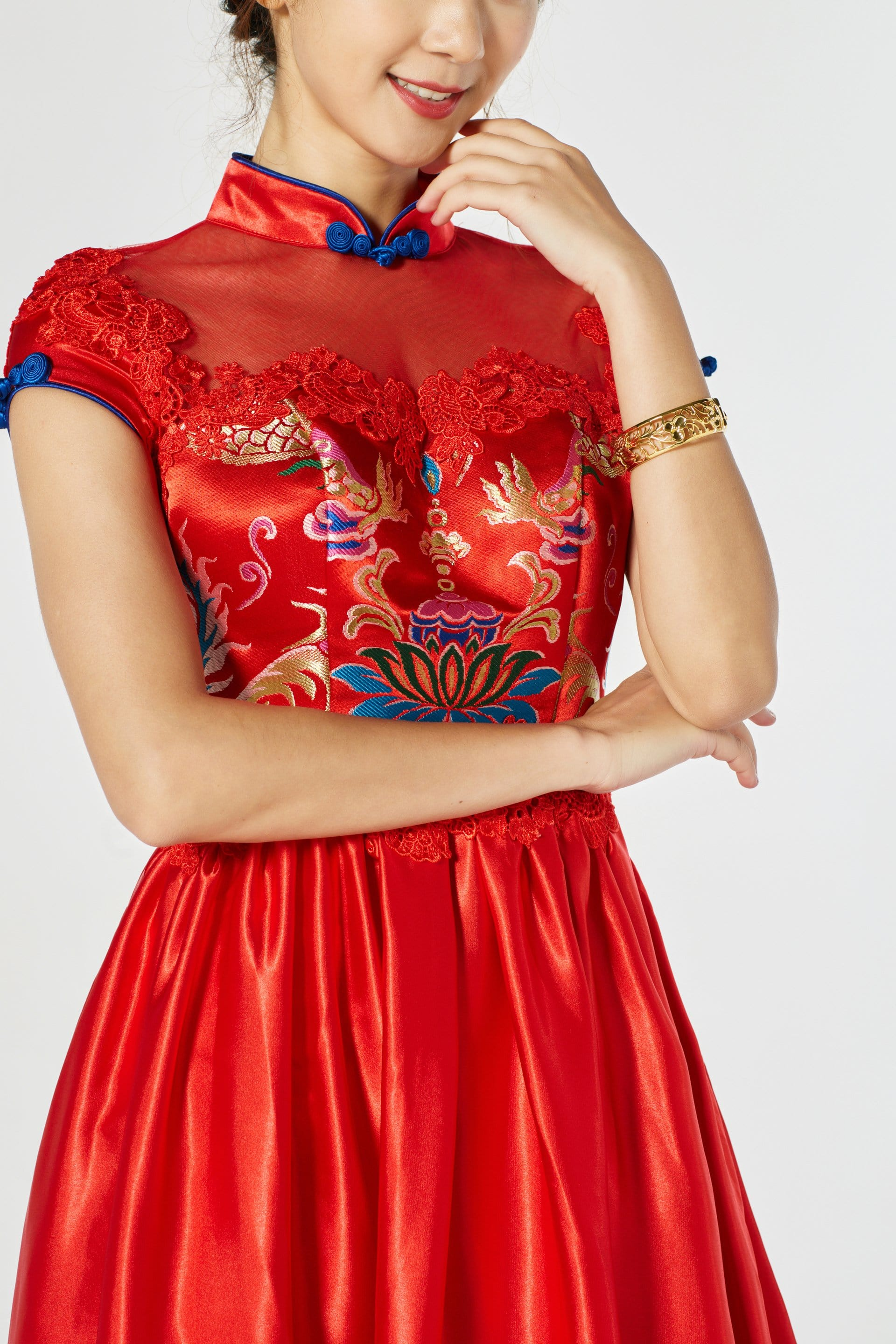 Adeline Bespoke Dress - Cheongsam - East Meets Dress