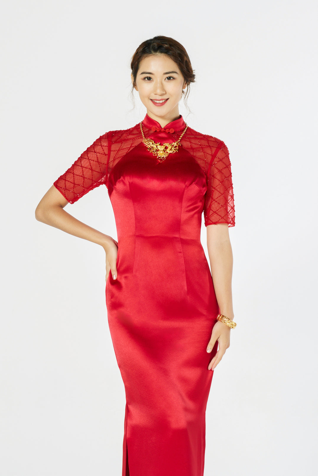 21b30248df36 Ali Bespoke Dress - Cheongsam - East Meets Dress