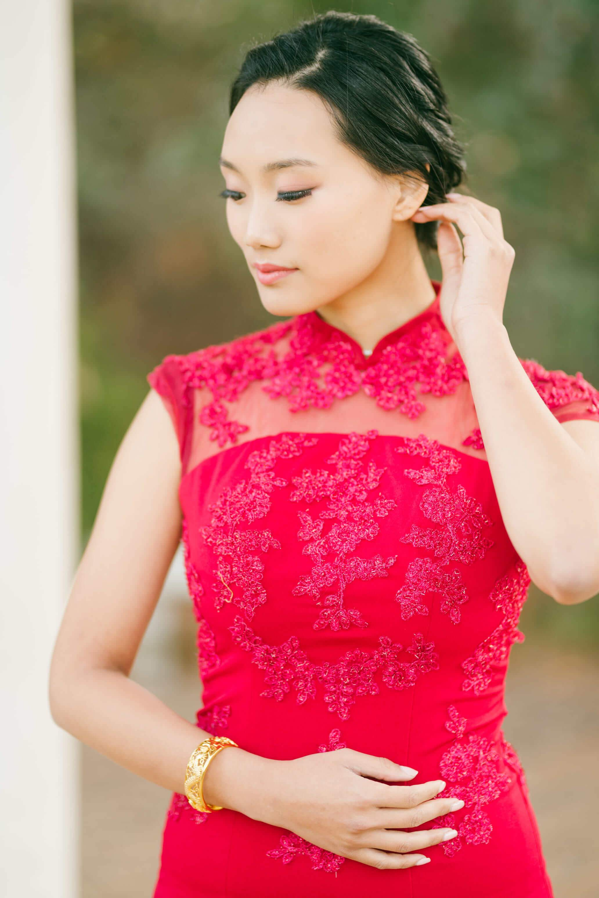 Amal Bespoke Dress | Modern Wedding Cheongsam