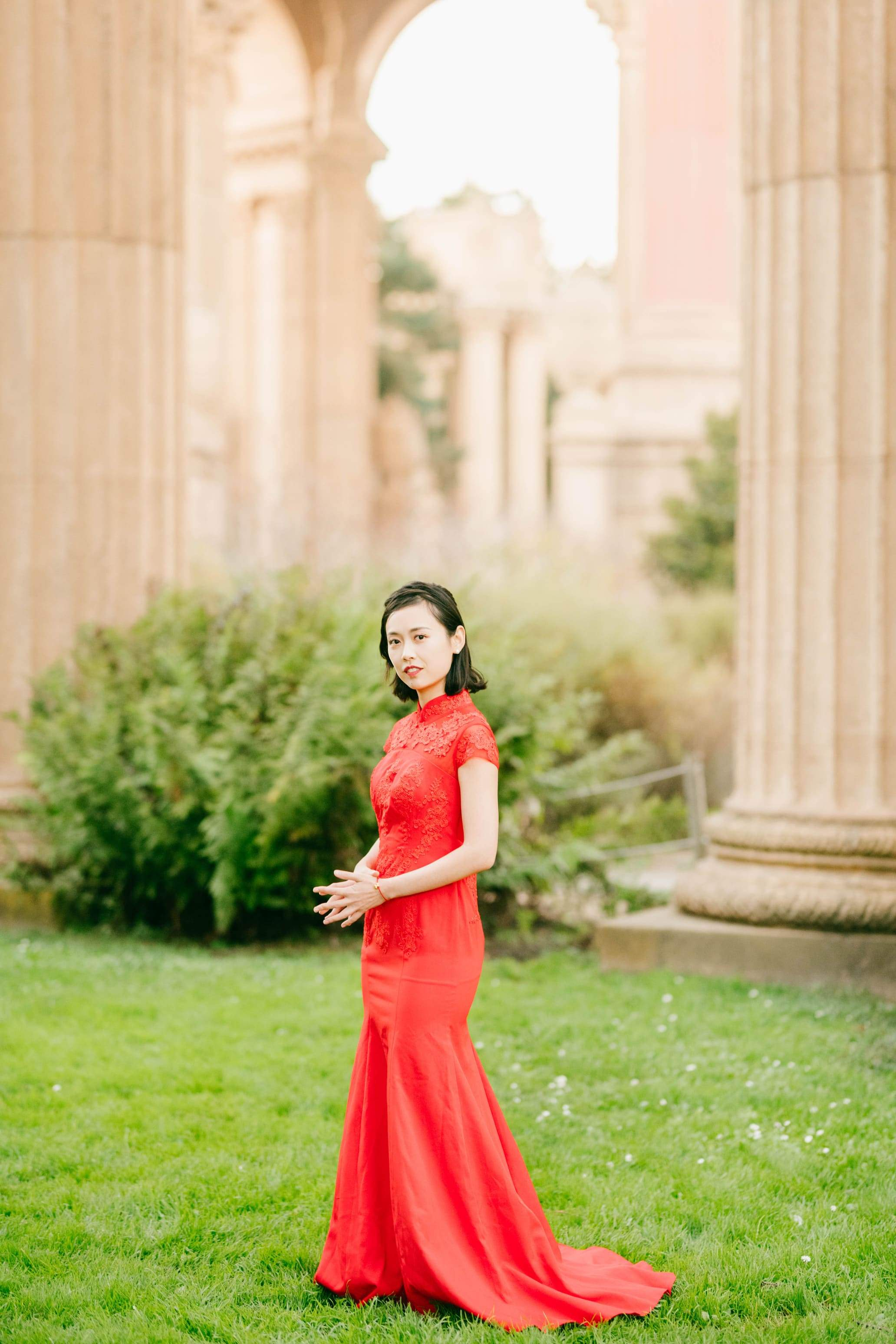 Amal Dress | Modern Wedding Cheongsam