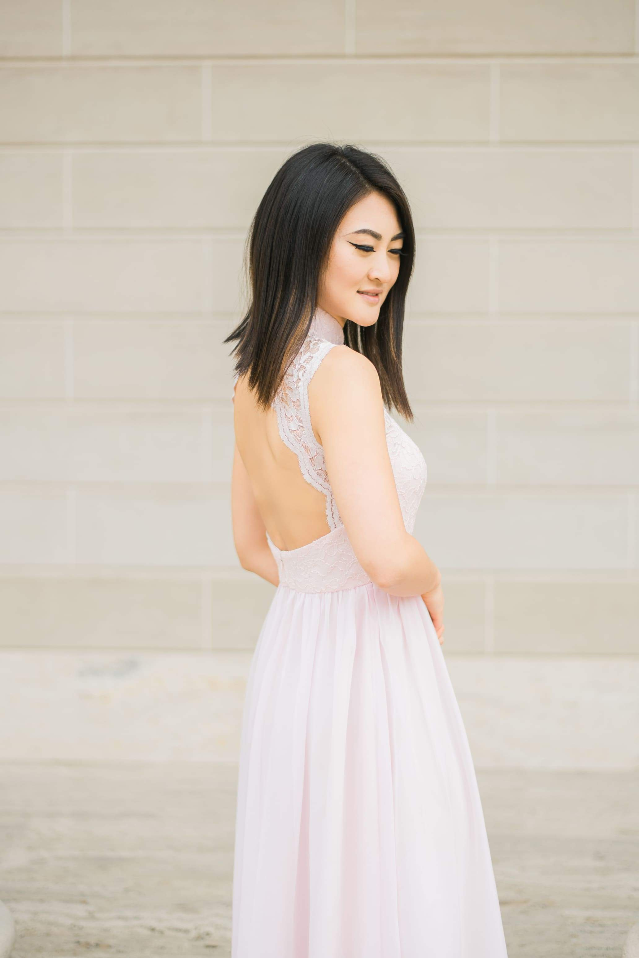Pink Amelia Bespoke Dress | Modern Wedding Cheongsam