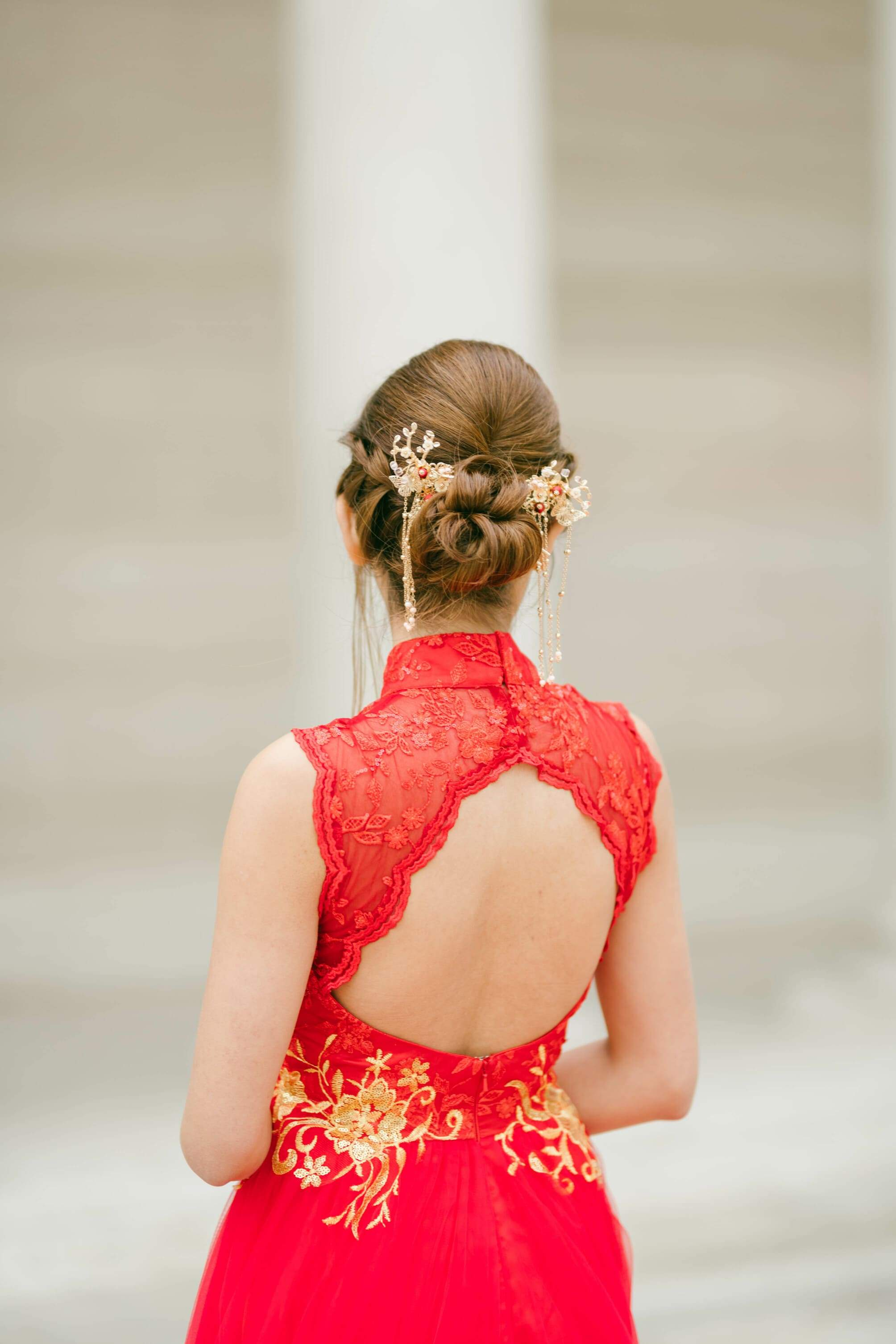 Blossom Chinese Wedding Hairpin
