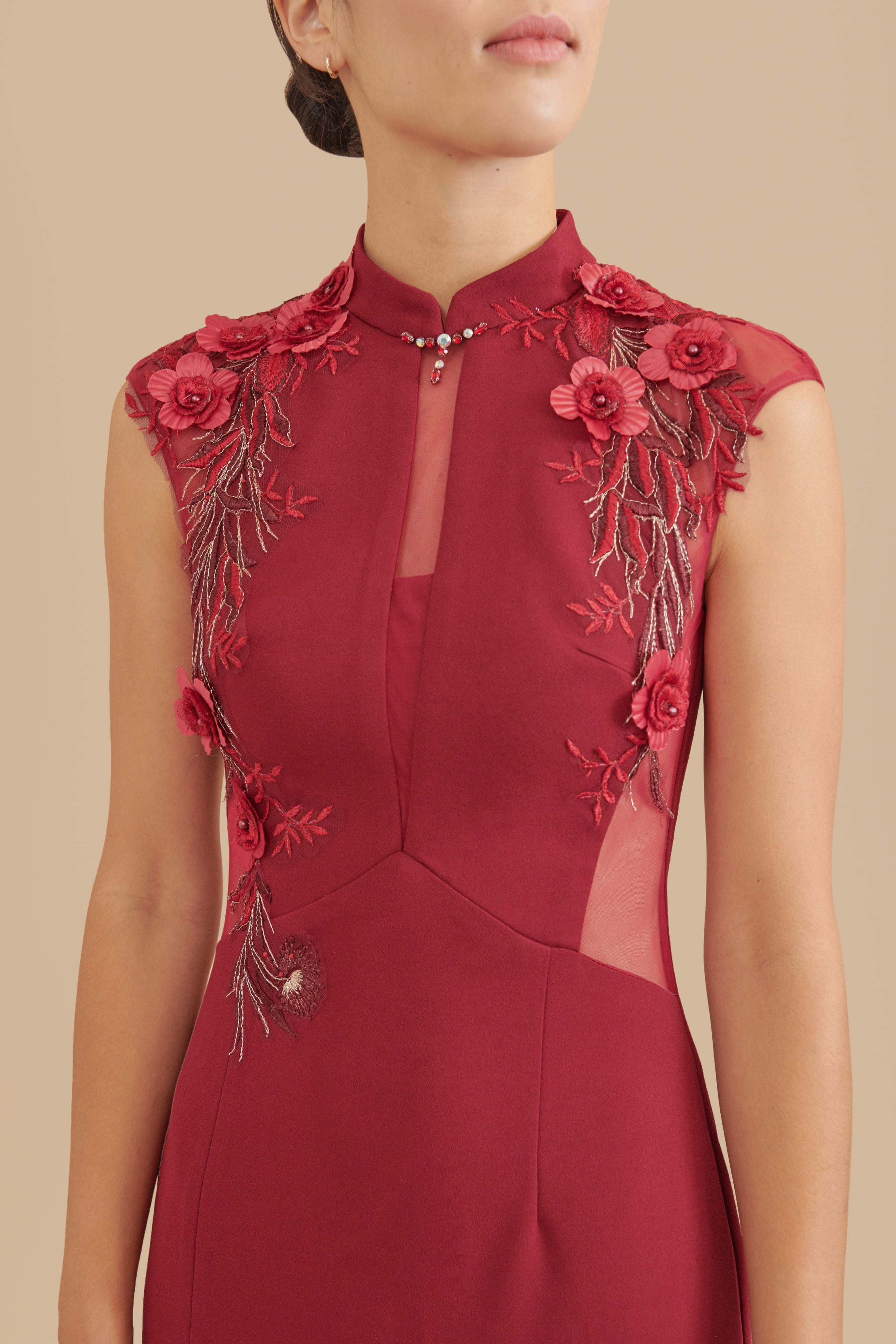 Wine Red Marilyn Dress - Ships Now | Modern Cheongsam