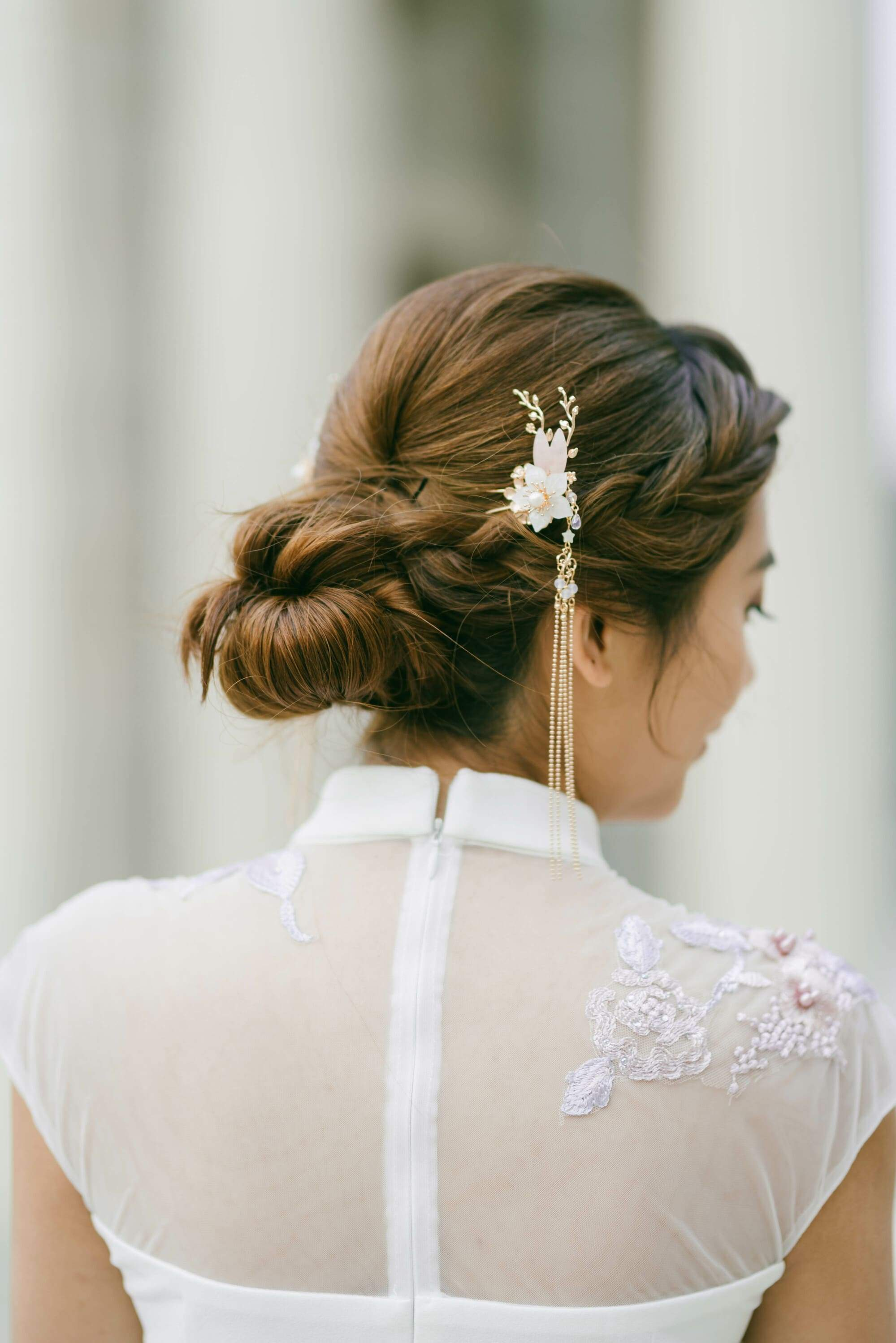 Pretty in Pink Hair Pins | Wedding Cheongsam Hair Accessories