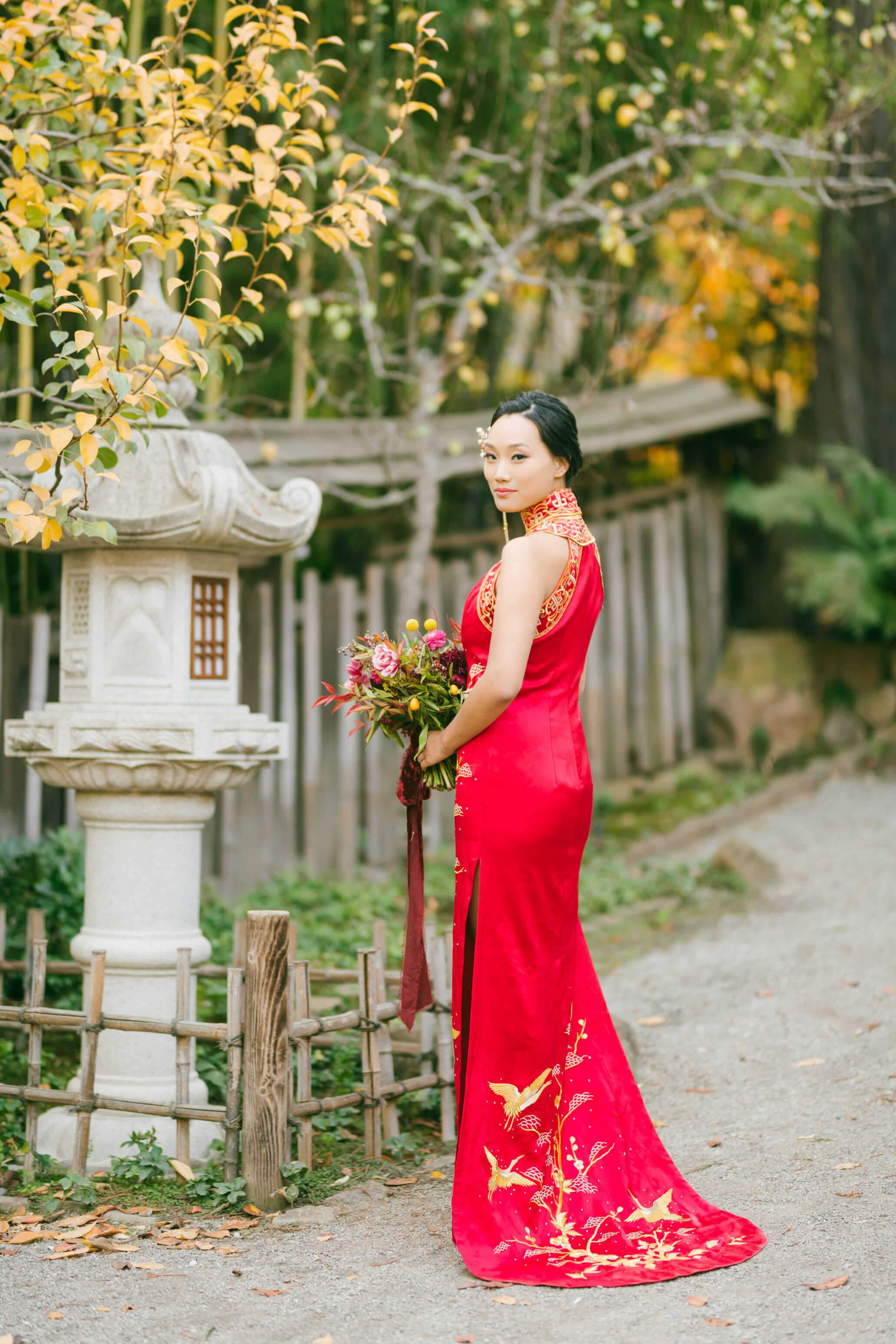 Lea Bespoke Dress | Embroidered Wedding Cheongsam