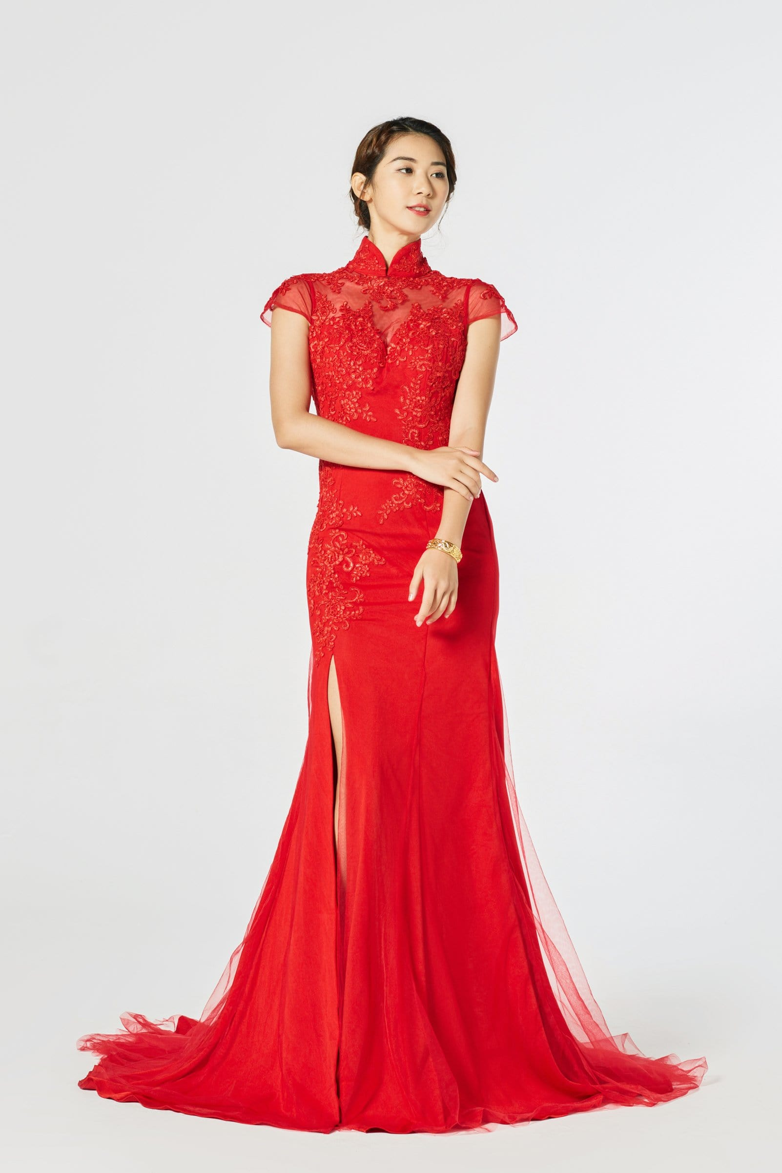 Chloe Bespoke Dress - Cheongsam - East Meets Dress