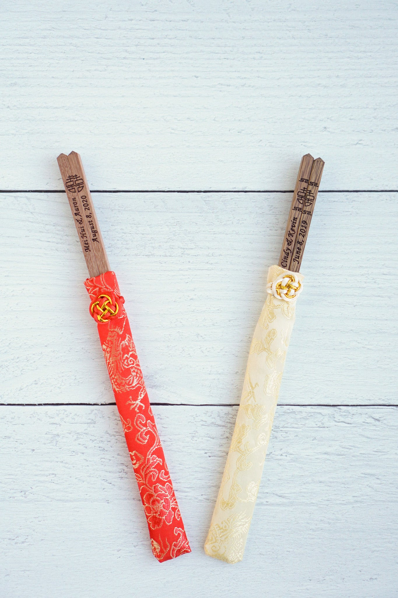 Bamboo Chopsticks with Silk Slip