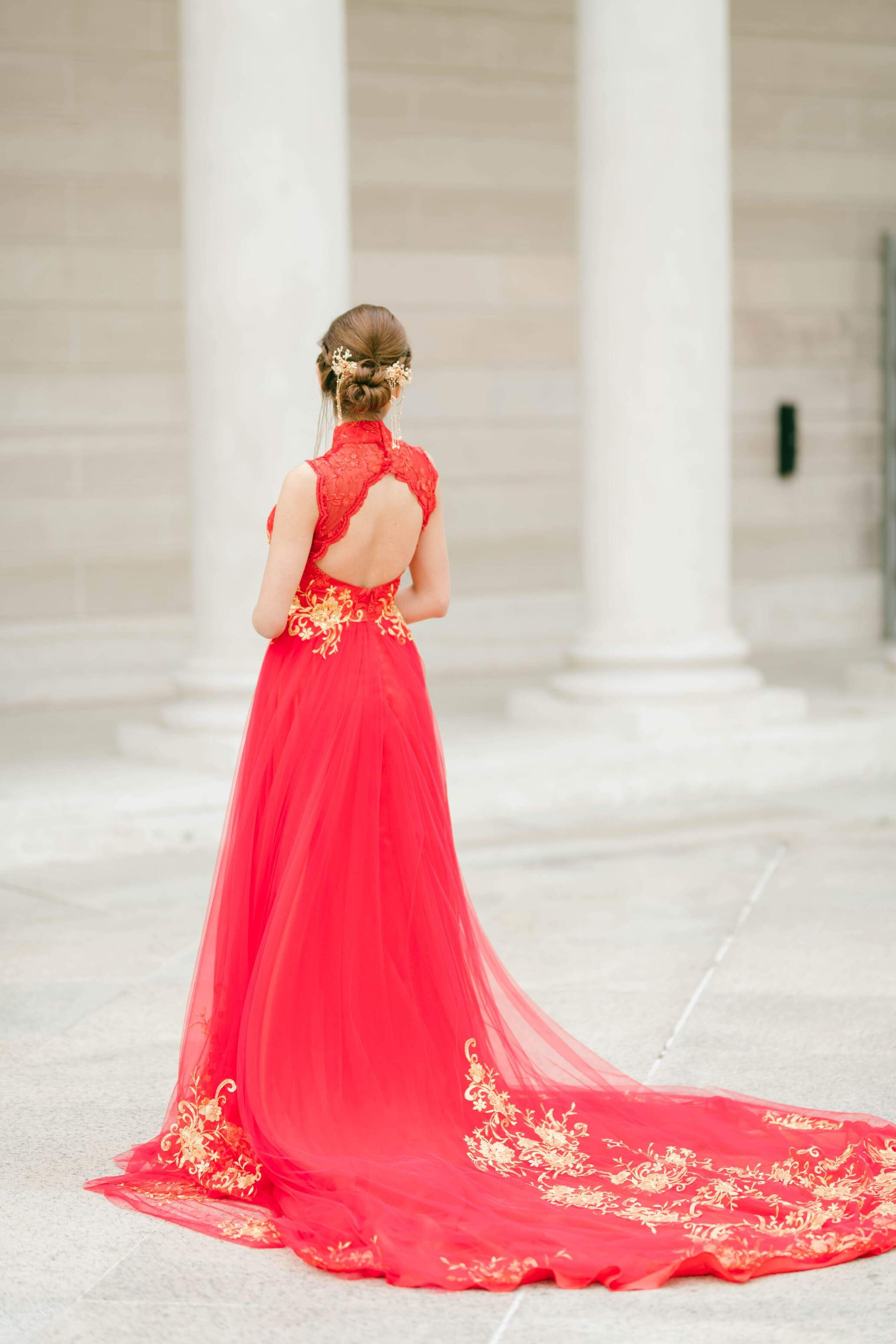 Mindy Bespoke Dress | Red & Gold Chinese Wedding Dress