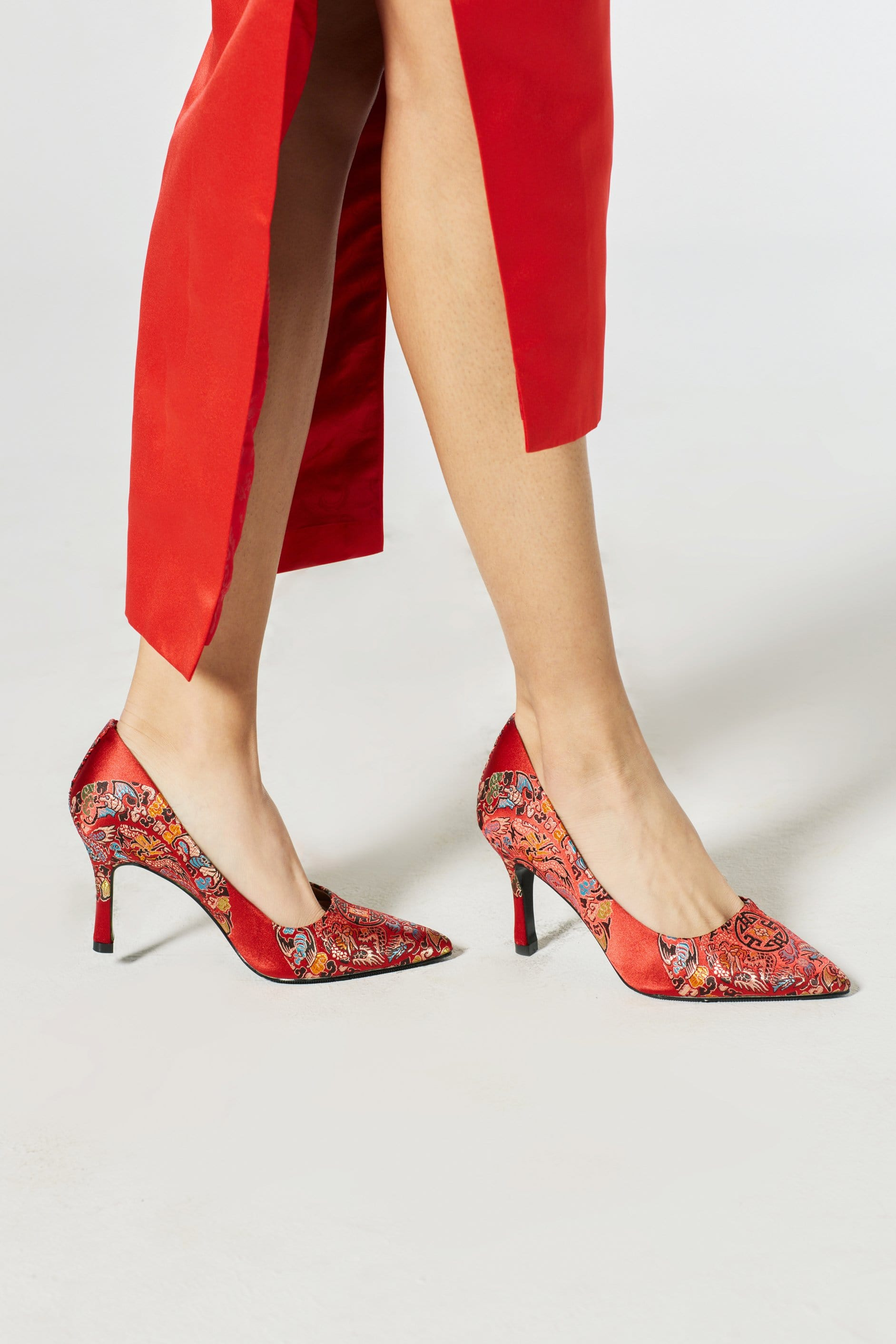 Waverly Brocade Pumps - Accessories - East Meets Dress