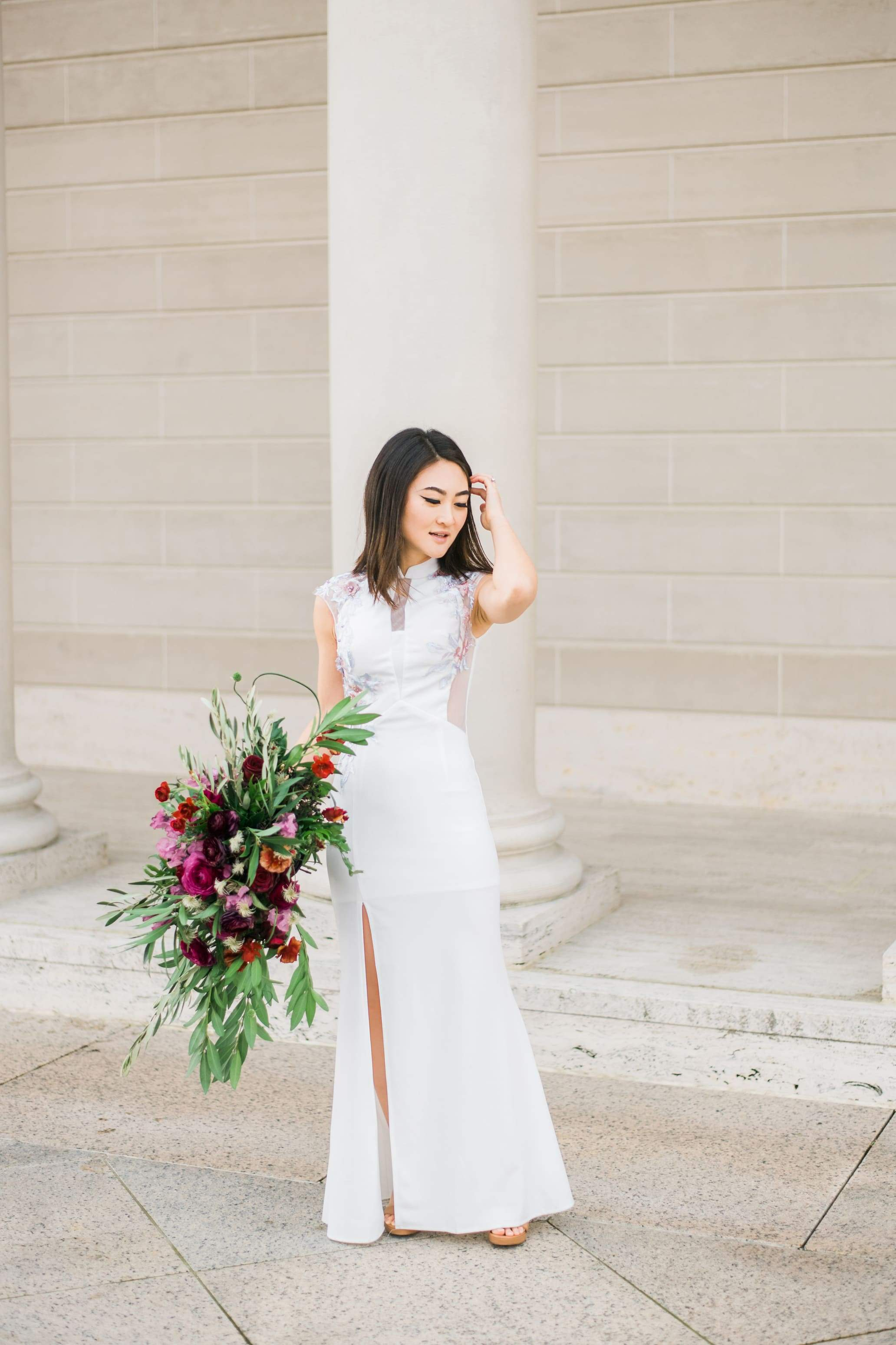 White Marilyn Dress | Modern Chinese Wedding Dress