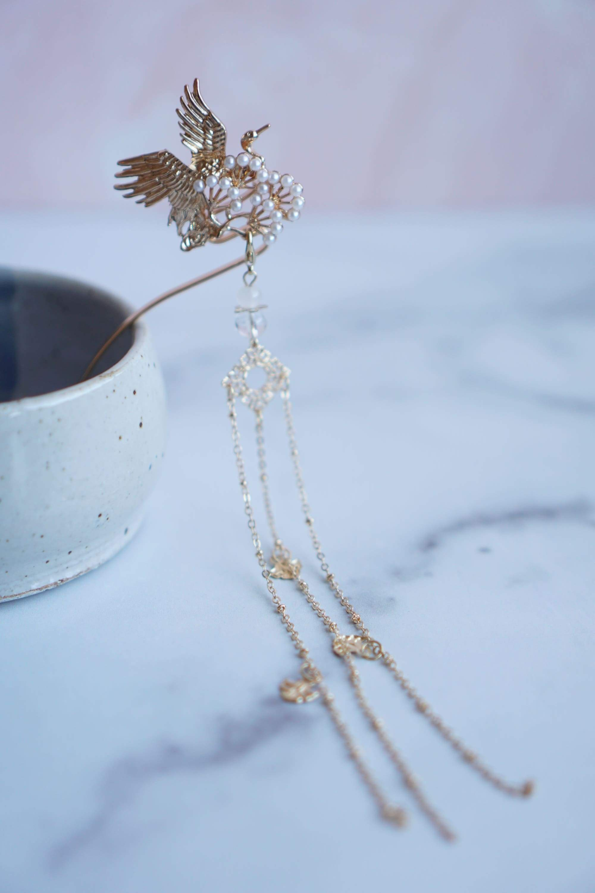 Lovebirds Chinese Wedding Hairpin