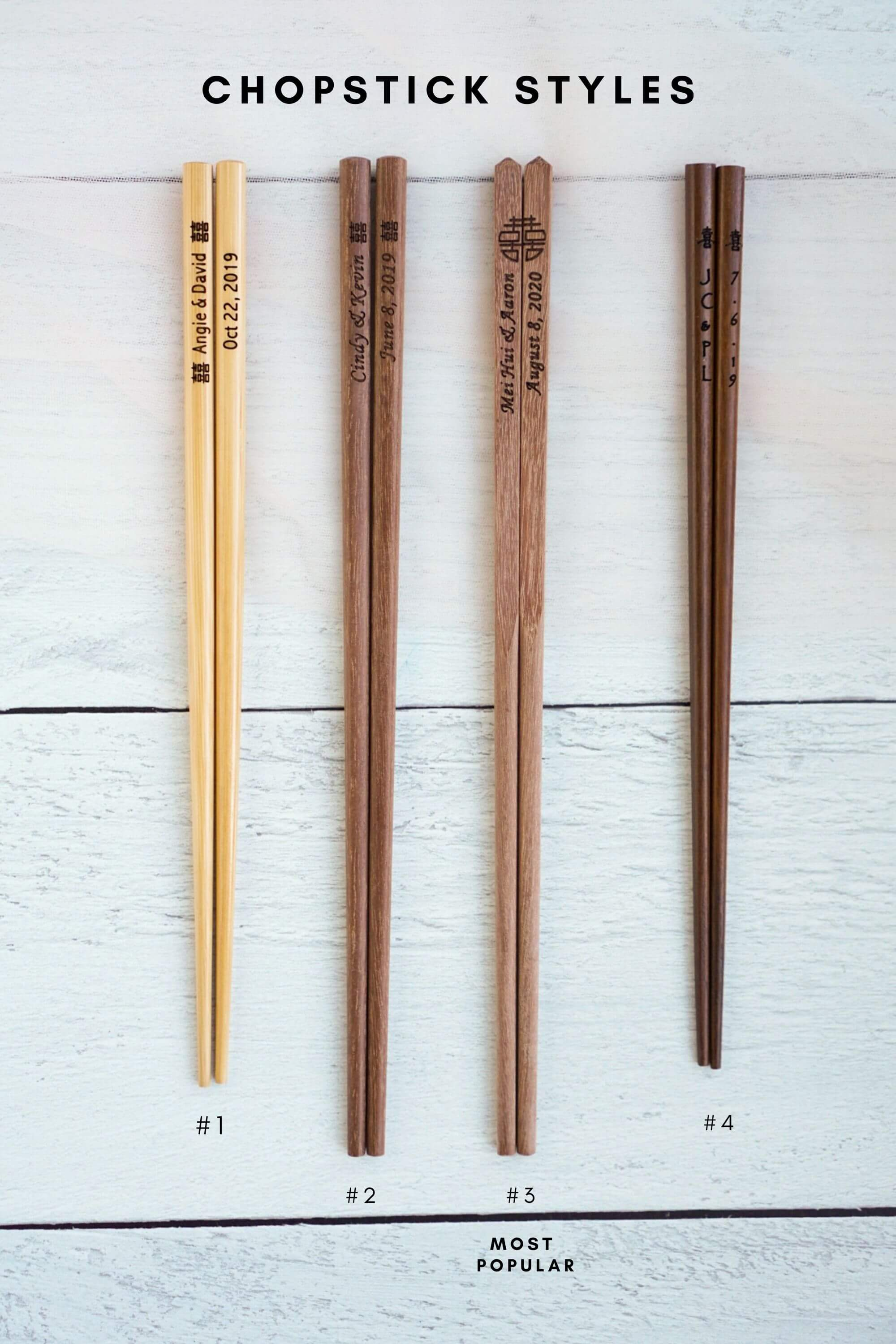 Custom Chopsticks with Silk Slip