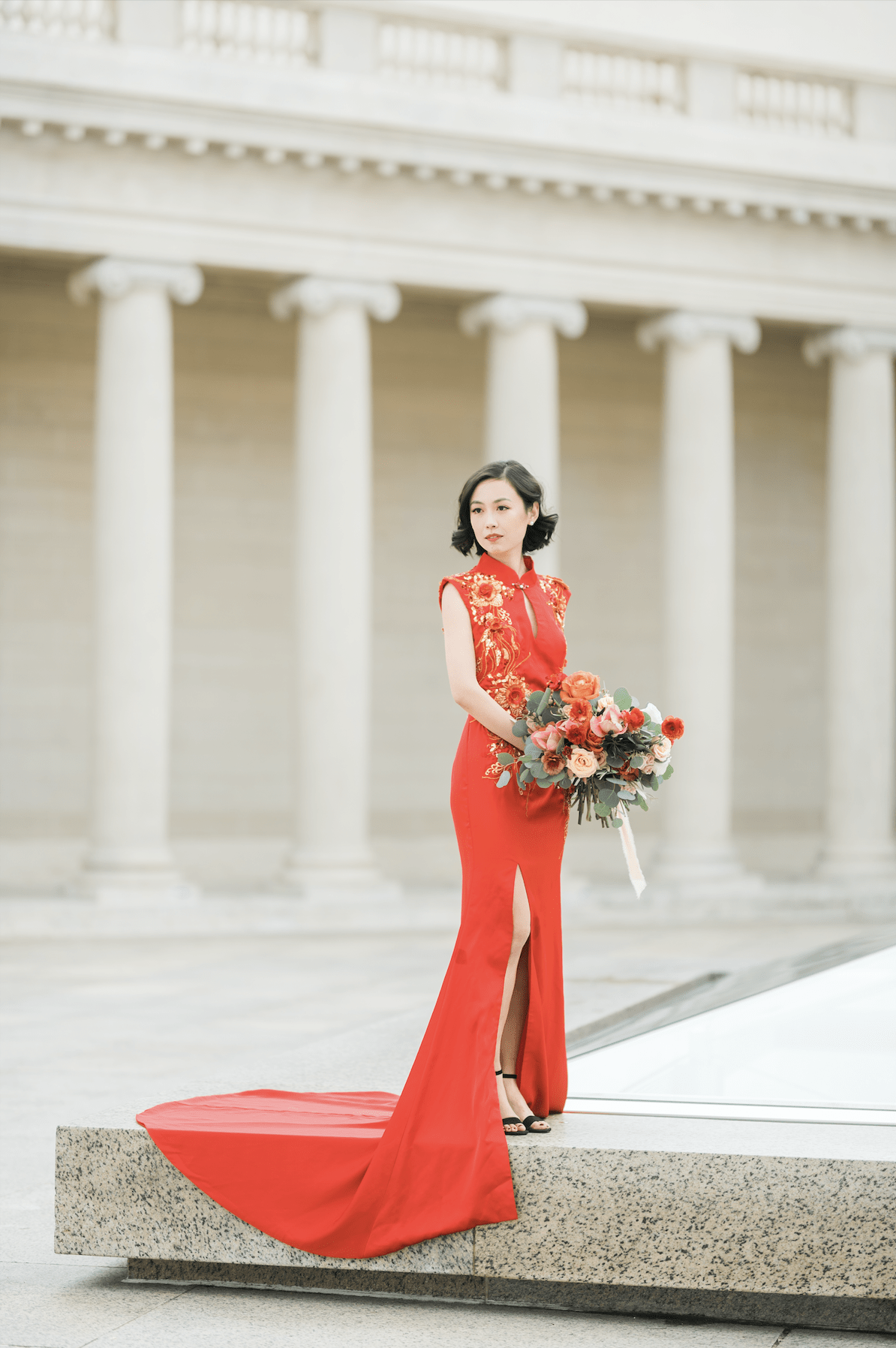 Maxine Bespoke Dress - Cheongsam - East Meets Dress