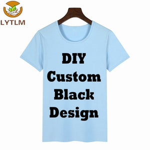 022f79c901cc LYTLM Quality Combed cotton Customized T Shirts for Boys T-shirts for Girls  Black Image