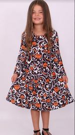 Kids Enchanted Pumpkin Swing Dress