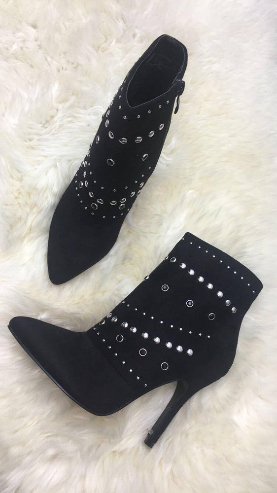 Matilda Black Pencil Heel Boots