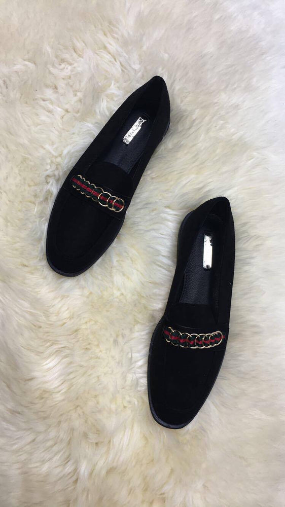 Rianda Chain Stripe Loafer Shoes