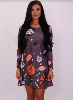 Trick Or Treat Halloween Swing Dress