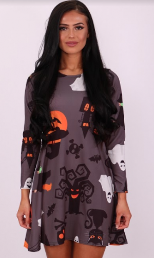 Phantom Creature Halloween Swing Dress