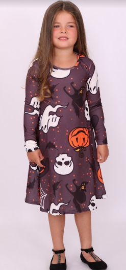 Kids Wicked Halloween Swing Dress - Missfiga.com
