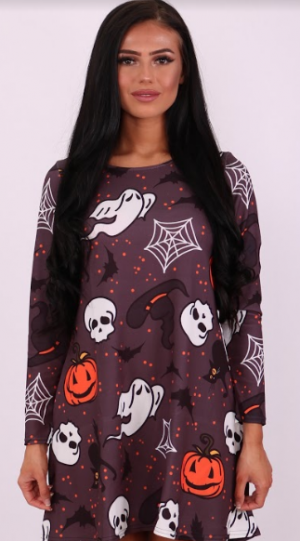 Wicked Halloween Swing Dress