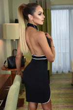 Piper Black Backless Bodycon