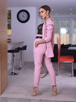 Alison Pink Paper Bag Pocket Belted Trousers - Missfiga.com