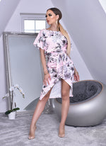 Pink Floral Judith Batwing Wrap Dress