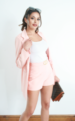 Vickie Pink Blazer and Shorts Co-ord - Missfiga.com