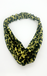 Tanya Leopard Satin Twisted Headband - Missfiga.com