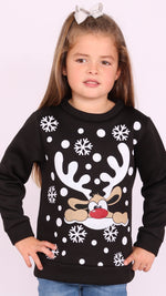 Kids Funky Reindeer Christmas Sweat Top
