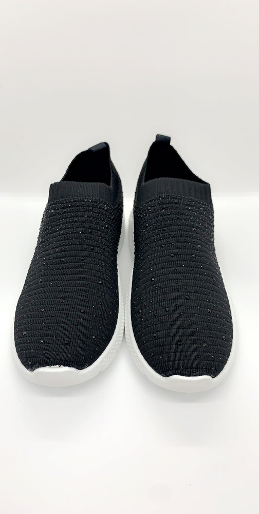 Low Runner Sock Trainer in Black - Missfiga.com