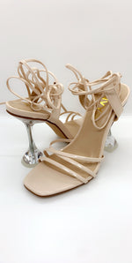 Nude Multi Strap Over Barely There Heels