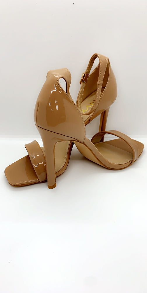 Mid Nude Stiletto Patent Barely There Heels - Missfiga.com