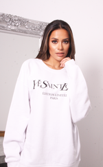 Oversized White Ye Saint Love Sweatshirt - Missfiga.com