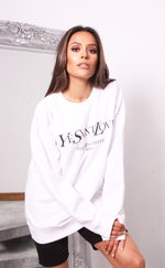 Oversized White Ye Saint Love Sweatshirt