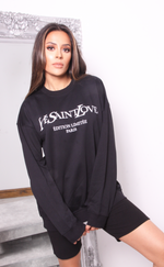 Oversized Black Ye Saint Love Sweatshirt