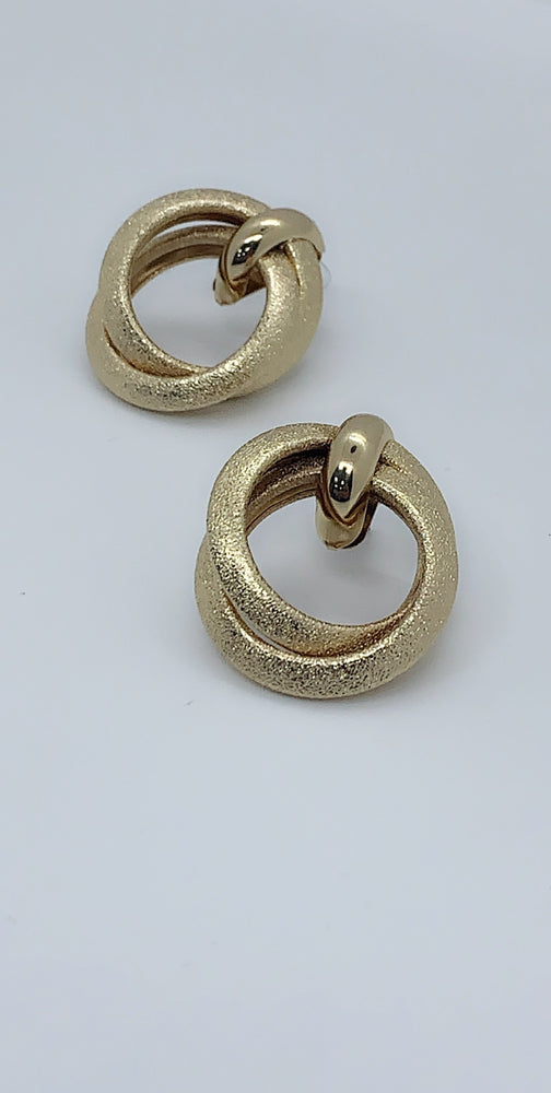 Nakita Gold Multi Circle Linked Earrings - Missfiga.com