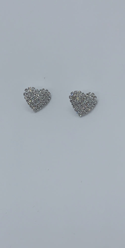 Uriah Diamante Heart Stud Earrings - Missfiga.com