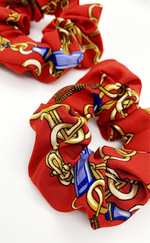 Ruby Red Chain Print 2 Pack Scrunchies - Missfiga.com