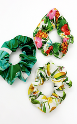 Ria Tropical Print 3 Pack Scrunchies