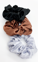 Sienna Satin Colours Assorted 3 Pack Scrunchies - Missfiga.com