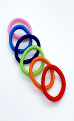 Olivia Multi Coloured 6 Pack Elastic Scrunchies Bands - Missfiga.com